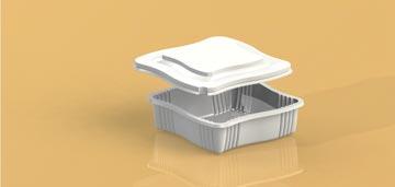 Упаковка для кондитерских изделий квадратная УТ-65