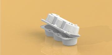Упаковка для пирожных, макарун прямоугольная УТ-83